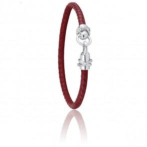 Bracelet A-Mer-Elle Amarante & Métal Rhodié