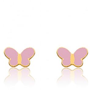 Boucles d'oreilles papillons or jaune 18K