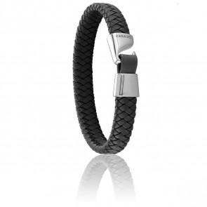 Bracelet Tangon Noir & Acier