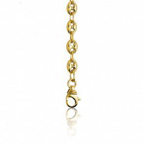 Chaîne Grain de Café 60 cm en or jaune 9 carats