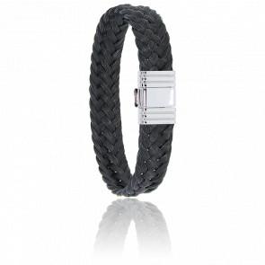 Bracelet 696 Crin de Cheval Noir & Acier