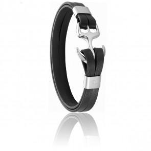 Bracelet Ancre  Noir & Acier