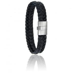 Bracelet 604 Crin de Cheval Noir & Acier