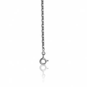 Chaîne Forçat Diamantée, Or Blanc 18K, longueur 55 cm