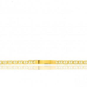 Gourmette identité Maille Marine Plate, Or Jaune 18K, 22 cm