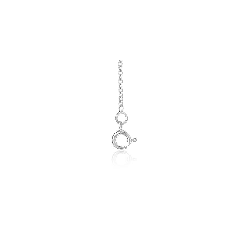 Chaîne Forçat, Or Blanc 18K, longueur 40 cm