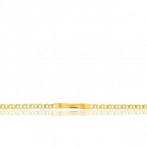 Gourmette Identité Maille Marine, Or Jaune 18K, 22 cm