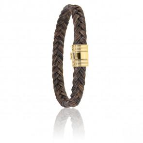 Bracelet 606 Crin de Cheval Marron & Or Jaune 18K