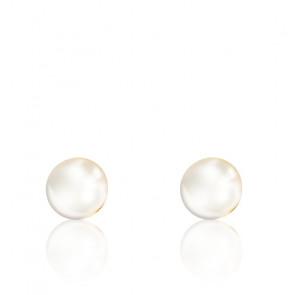 Puces d'oreilles perles d'Akoya & or jaune 18 carats