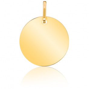 Médaille Ronde Polie Or Jaune 18K