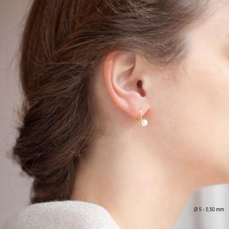 boucle d'oreille perle dormeuse