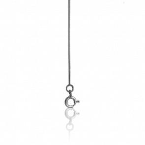 Chaîne Serpentine Ronde, Or Blanc 18K, longueur 50cm