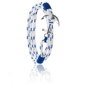 Bracelet Ancre Royal Blue Argent