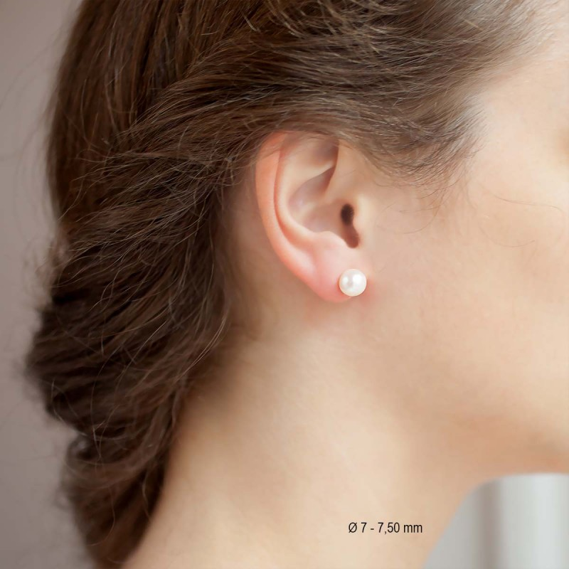 boucles d 39 oreilles perles blanches or jaune porchet ocarat. Black Bedroom Furniture Sets. Home Design Ideas