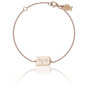 Bracelet My Love Argent Plaqué Or Rose