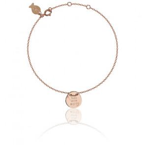 Bracelet Love Argent Plaqué Or Rose