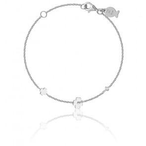Bracelet Trèfles Argent & Zircon