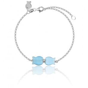 Bracelet Lisa Bleu Argent