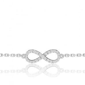 Bracelet Eternity Full Star Or Blanc et Diamants