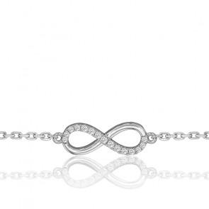 Bracelet Eternity Star Or Blanc et Diamants