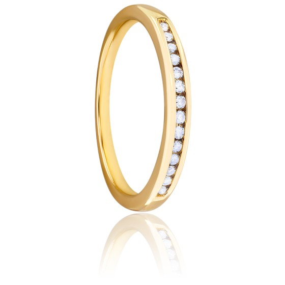 Alliance Cassandre, Diamants & Or Jaune 9K