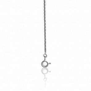 Chaîne Forçat Diamantée, Argent, longueur 42 cm