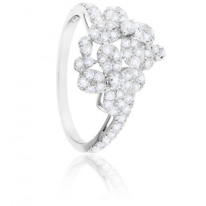 Bague Flora Diamants & Or Blanc 18K