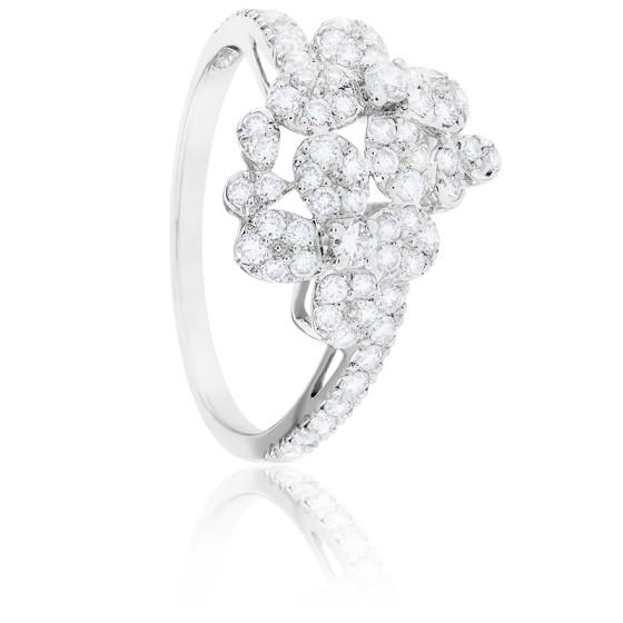 Bague Flora Diamants & Or Blanc 18K