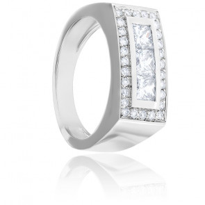 Bague Nina Diamants & Or Blanc 18K