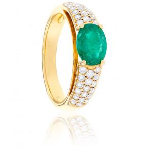 Bague Emma Emeraude, Diamants & Or Jaune 18K