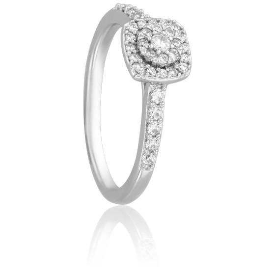 3939a52b2ba Alliance solitaire bonheur diamant or blanc - Alliantine - Ocarat