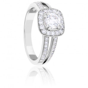 Bague Dahlia Diamants & Or Blanc 18K