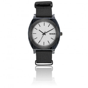 The Time Teller Acetate All Black / Silver A327-2345