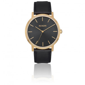 The Porter Leather All Black / Gold A1199-1031