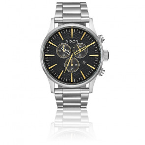 The Sentry Chrono Black Stamped/Gold A386-2730