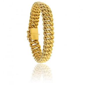 Bracelet maille Américaine, 20 cm, Plaqué Or, 13 mm
