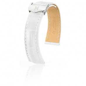 Bracelet Navigator Blanc Mat / Silver - Entrecorne 22 mm - Chute 20 mm