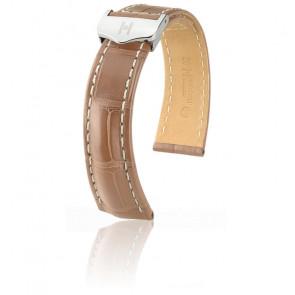 Bracelet Navigator Beige Mat / Silver - Entrecorne 20 mm - Chute 16 mm