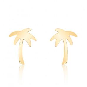Boucles d'oreilles palmier, or jaune 9 carats