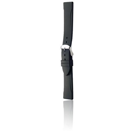 Bracelet Bonetto 315 Noir / Silver - Caoutchouc - Entrecorne 22 mm