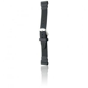 Bracelet Bonetto 309 Noir / Silver - Caoutchouc - Entrecorne 20 mm