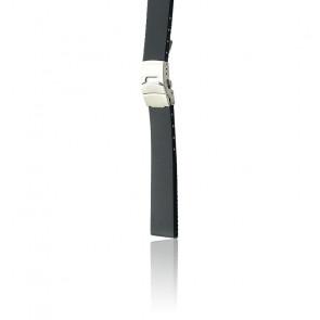 Bracelet Bonetto 300 L Noir / Silver - Caoutchouc - Entrecorne 22 mm
