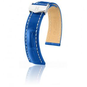 Bracelet Navigator Bleu Mat / Silver - Entrecorne 20 mm - Chute 16 mm