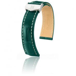 Bracelet Navigator Vert foncé Mat / Silver - Entrecorne 22 mm - Chute 20 mm