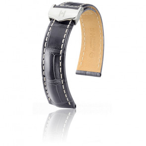 Bracelet Navigator Gris Mat / Silver - Entrecorne 22 mm - Chute 18 mm