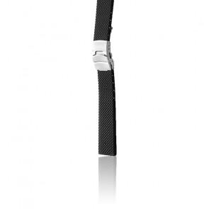 Bracelet Bonetto 300 D Noir / Silver - Caoutchouc - Entrecorne 20 mm