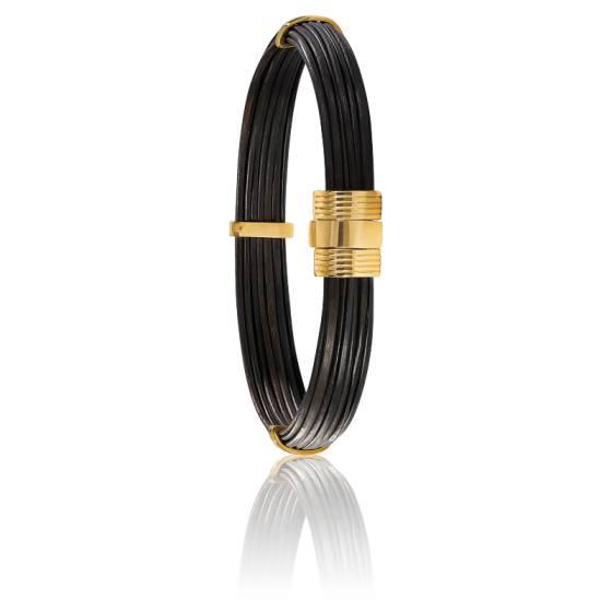 bracelet 606 poils el phant or jaune 18k albanu ocarat. Black Bedroom Furniture Sets. Home Design Ideas