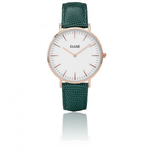 La Bohème Rose  Gold white / Emerald Lizard CL18038