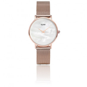 Minuit La Perle Mesh Rose Gold White CL30047