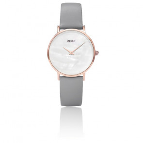 Minuit La Perle Rose Gold White Pearl/ Stone Grey CL30049